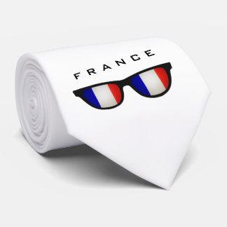 France Shades custom text & color tie