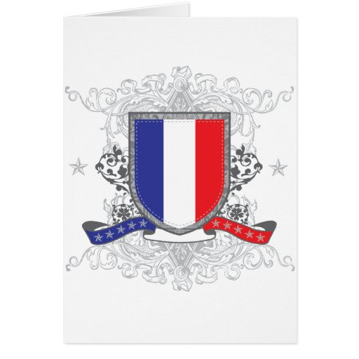 France Shield Greeting Card