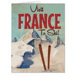 France Skiing Vintage travel poster