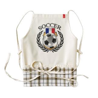 France Soccer 2016 Fan Gear Zazzle HEART Apron