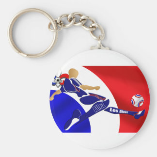 France Soccer - Brazil 2014 Euro 2012 Football Basic Round Button Keychain