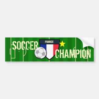 France Soccer Champion Car Bumper Sticker