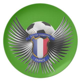 France Soccer Champions Dinner Plates