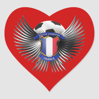 France Soccer Champions Heart Sticker