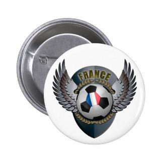 France Soccer Crest Pinback Buttons
