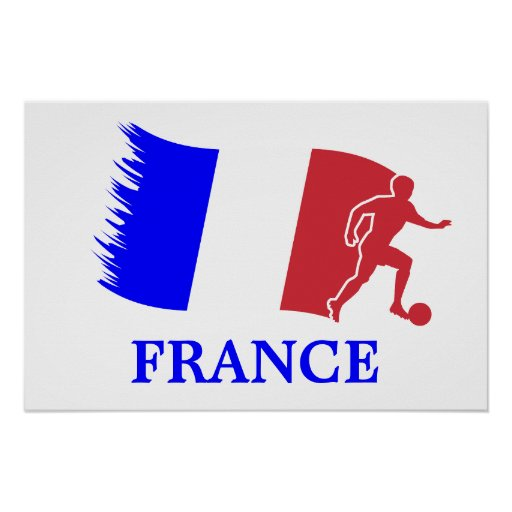 France Soccer Flag Poster