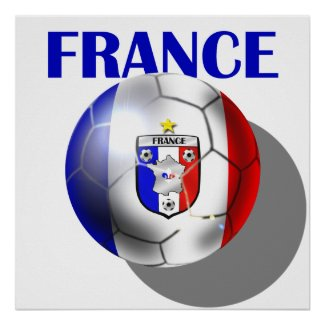 France soccer gear for French football fans print