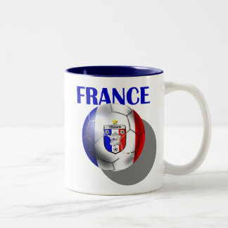 France soccer gear for French football fans Two-Tone Coffee Mug