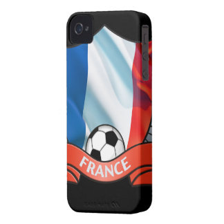 France Soccer iPhone 4/4S Case-Mate Barely There iPhone 4 Case-Mate Case