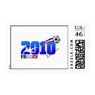 France Soccer Les Bleus 2010 flag gifts Stamp