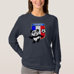 Women's Basic Long Sleeve T-Shirt with France Football Panda design