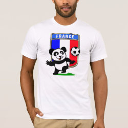 Men's Basic American Apparel T-Shirt with France Football Panda design