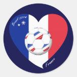 """FRANCE"" Soccer Team. Fútbol de Francia 2014 Pegatinas"