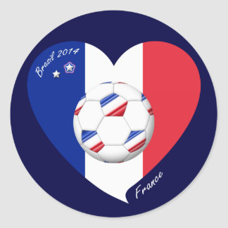 """FRANCE"" Soccer Team. Soccer of France 2014 Classic Round Sticker"