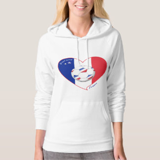 """FRANCE"" Soccer Team. Soccer of France 2014 Hoodie"
