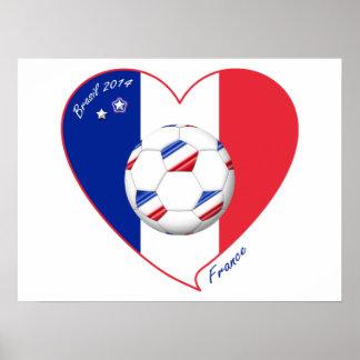 """""""FRANCE"""" Soccer Team. Soccer of France 2014 Poster"""