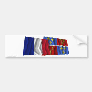 France & Somme waving flags Car Bumper Sticker