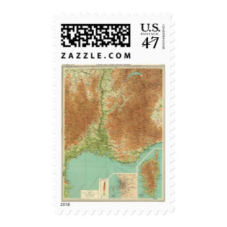 France southeastern section Corsica Marseille Postage