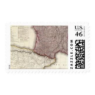 France Southwest Postage Stamps