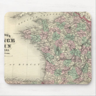 France, Spain, and Portugal Mouse Pad