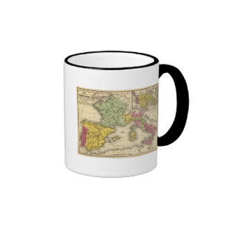 France, Spain, Portugal, Italy Ringer Coffee Mug