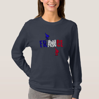 France speed skating ice skaters long sleeve top