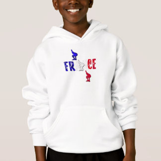 France speed skating ice skating hooded top