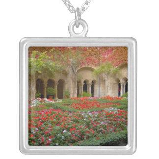 France, St. Remy de Provence, cloisters at 3 Square Pendant Necklace