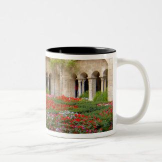 France, St. Remy de Provence, cloisters at 3 Two-Tone Coffee Mug