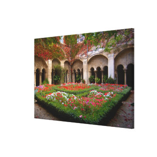 France, St. Remy de Provence, cloisters at Canvas Print
