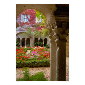 France, St. Remy de Provence, cloisters at Poster