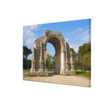 France, St. Remy de Provence, Triumphal Arch Canvas Print