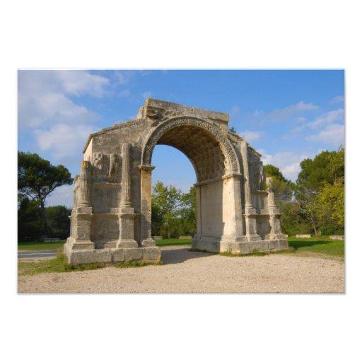 France, St. Remy de Provence, Triumphal Arch Photo Print