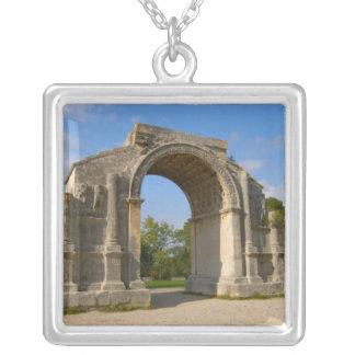 France, St. Remy de Provence, Triumphal Arch Square Pendant Necklace