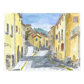 France Streetscape Postcard