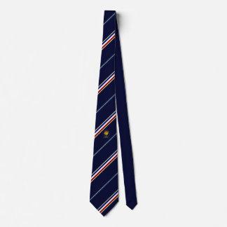 France stripes flag neck tie