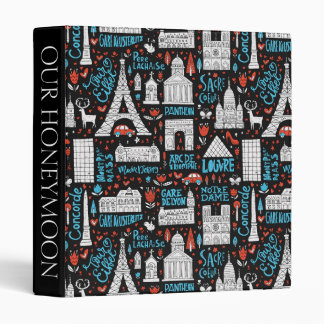 France | Symbols Pattern 3 Ring Binder