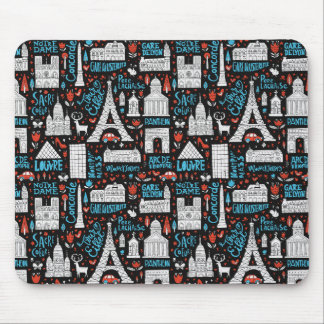 France | Symbols Pattern Mouse Pad