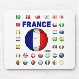 France t-shirt d7 mouse pad