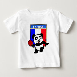 Baby Fine Jersey T-Shirt with French Table Tennis Panda design