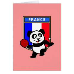 Greeting Card with French Table Tennis Panda design