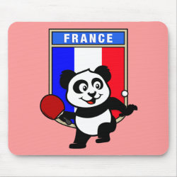 Mousepad with French Table Tennis Panda design