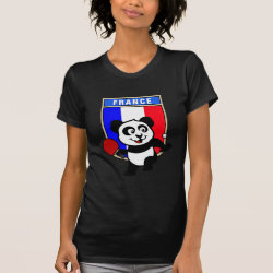Women's American Apparel Fine Jersey Short Sleeve T-Shirt with French Table Tennis Panda design