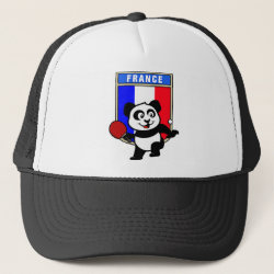Trucker Hat with French Table Tennis Panda design