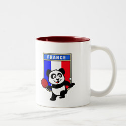 Two-Tone Mug with French Table Tennis Panda design
