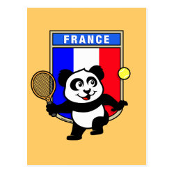 Postcard with French Tennis Panda design