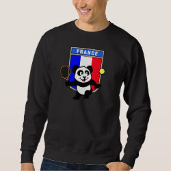 Men's Basic Sweatshirt with French Tennis Panda design