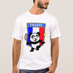 Men's Basic T-Shirt with French Tennis Panda design