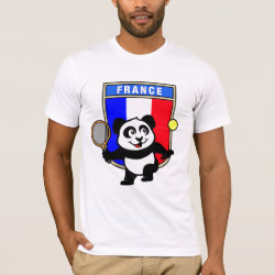 French Tennis Panda Men's Basic American Apparel T-Shirt
