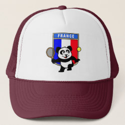 Trucker Hat with French Tennis Panda design